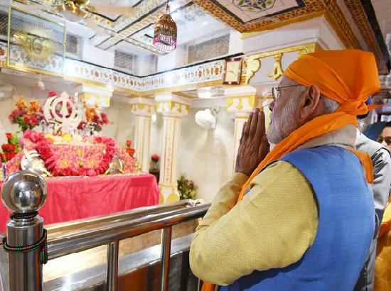 Blessed morning at Gurdwara Ber Sahib, tweets PM Modi