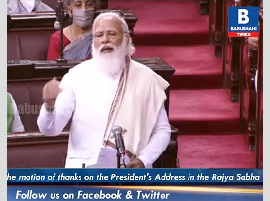 PM Modi gives sharp reply to opposition in RS, reacts to global attention over farm laws