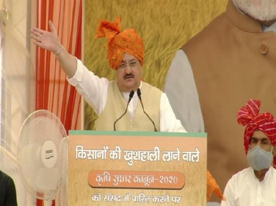It's a middlemen's movement, not a farmers' movement in Punjab: Nadda