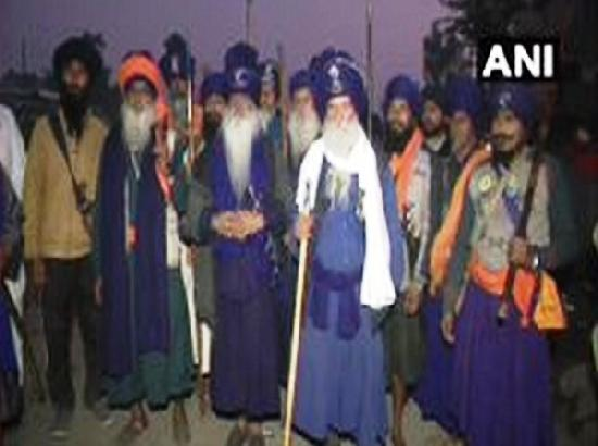 Nihang Sikhs reach Singhu border in support of farmers protesting 'black laws'