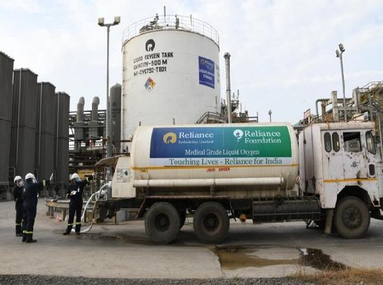 Reliance becomes India's largest producer of medical grade liquid oxygen from single locat
