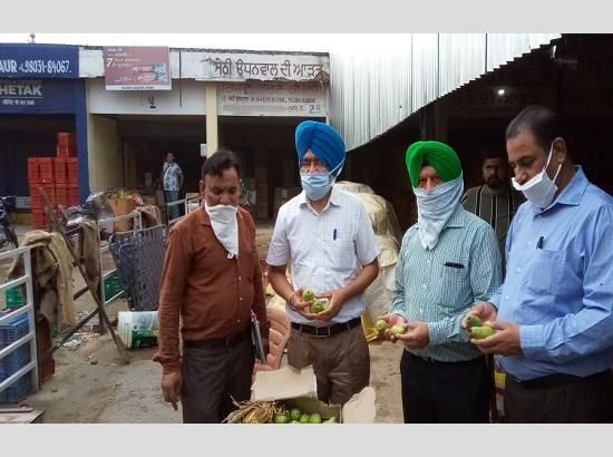 PFDA seizes 55.34 quintal sub standard fruits and vegetables during statewide drive