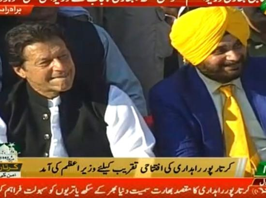 Sidhu thanks Modi, Imran for Kartarpur corridor, says boundaries dismantled for first time