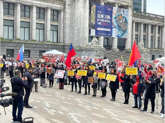 Massive protest in Canada in favour of people of Myanmar