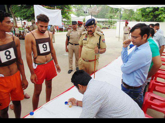 Police recruitment process begins in Ferozepur with Dope Test, 27400 candidates for 182 posts of constables