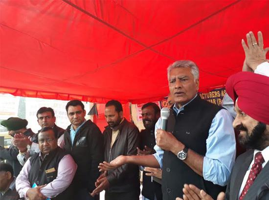 Punjab Congress led by Jakhar joins Ludhiana industries protest against demonetisation