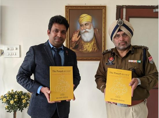 "ADGP AS Rai releases Munish Jindal's ""The Punjab Review"" book on current affairs"