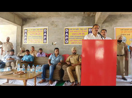 Seven drug addicts voluntarily come forward for treatment during DAPO function at Pakhon Kalan village
