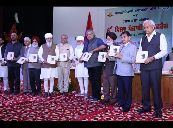 "Late Harbans Bhalla's ""Peelay Pattar"" released at World Punjabi Conference"