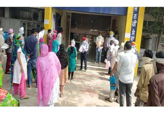 Sewa Kendar Fatehgarh Sahib proving center of hardship as people stand in queues from earl