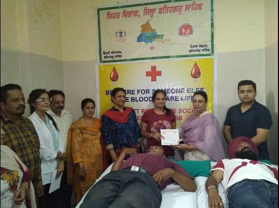 Under Tandarust Punjab mission World Blood Donation day celebrated