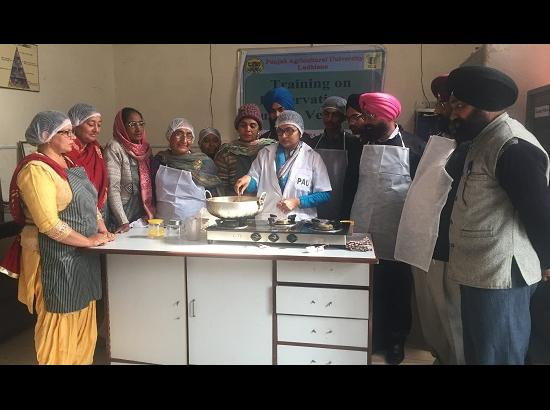 Vocational Training on preservation of Fruits & Vegetables concludes at Krishi Vigyan Kendra Fatehgarh Sahib