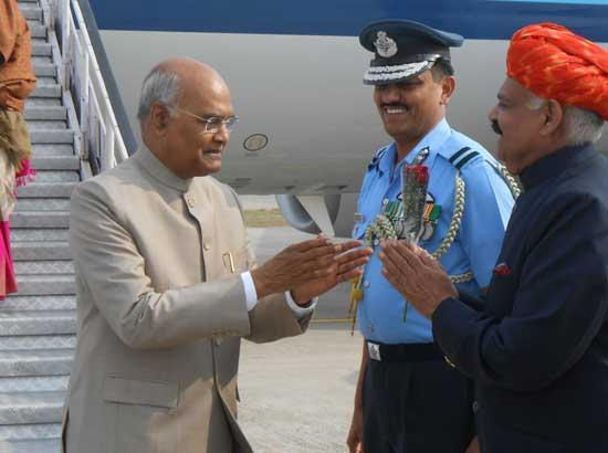 Punjab Governor, DC, SSP welcome President of India during his brief stay at Adampur Airpo