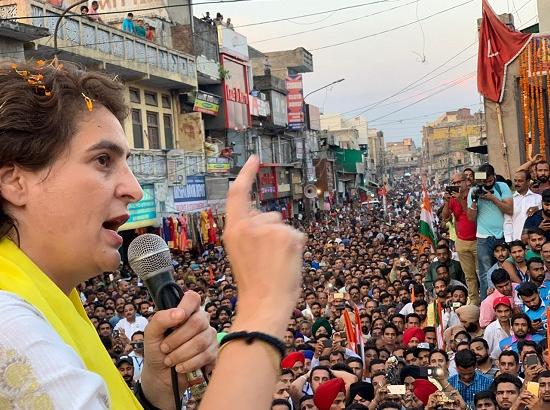 'Do You Want a PM who does politics on Martyrs or the son of Martyr as PM'? Priyanka ask