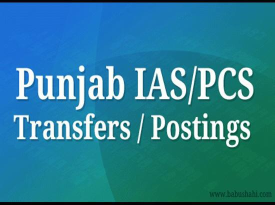 Two IAS officers transferred