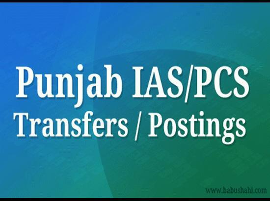 Two Punjab IAS officers transferred