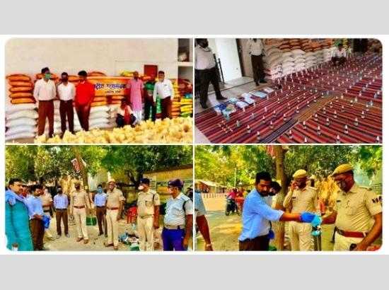 IN ACTION: RSS Swayamsevaks in Bihar distributes grocery kits, masks, and sanitisers