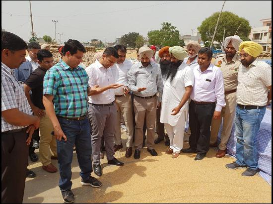 MD Markfed and DC Sangrur review wheat procurement arrangements