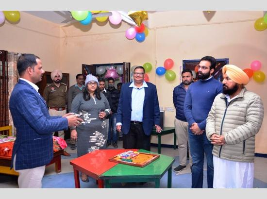 MLA Hardyal Singh Kamboj visits Quarantine Centre for Children