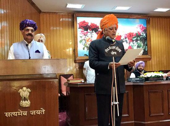 Rana K P Singh sworn in as Pro-tem Speaker Punjab Assembly
