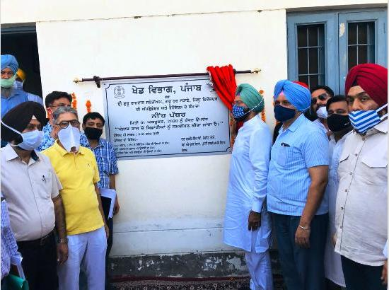 Rana Sodhi lays foundation of upgradation of Sports Stadium with Rs.8 crore