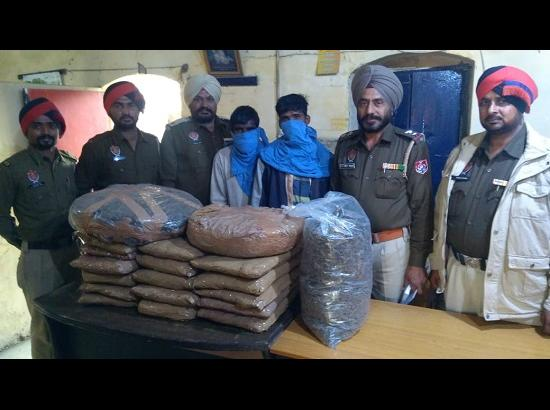 Khanna Police recovers 55 kg Ganja from possession of 2 persons