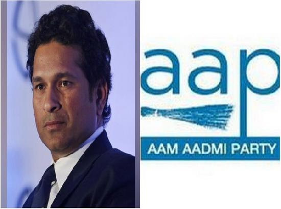 AAP urges Tendulkar to tweet in favour of protesting farmers