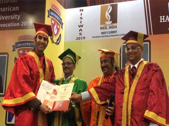 Sandip Soparrkar conferred with an honorary doctorate in Fine Arts