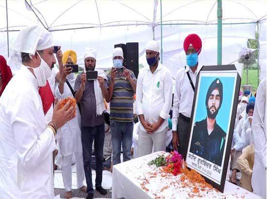 Singla announces construction of new road to commemorate sacrifice of Gurbinder Singh