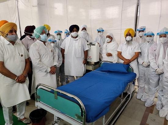 Sukhbir dedicates Covid Care center at Talwandi Sabo to people