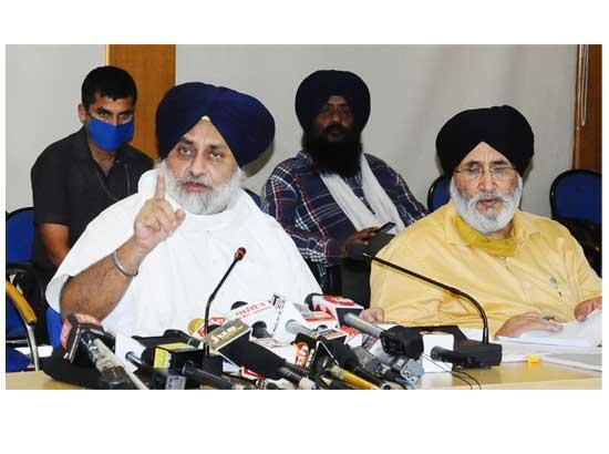 Sukhbir castigates CM and Cong for trying to deceive farmers by issuing a false and mislea