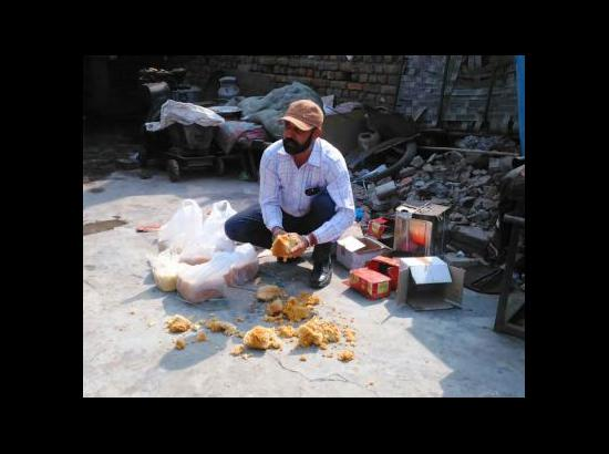 Sampling, inspection of sweets in full swing by Health Department in Ferozepur – destroys spurious sweets