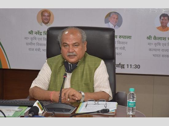 Narendra Singh Tomar virtually launches Krishi Megh