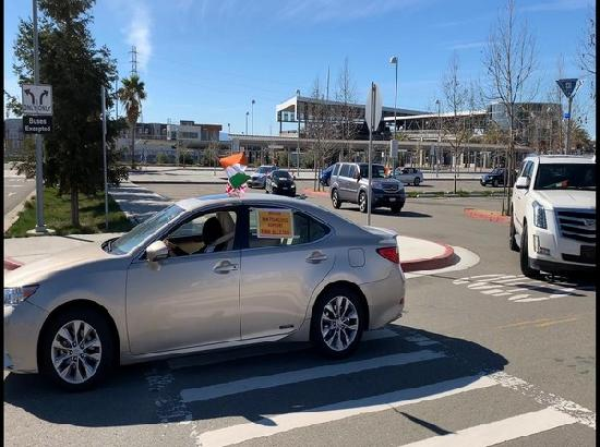 NRIs of San Francisco Bay Area show support to India's farm laws via car rally