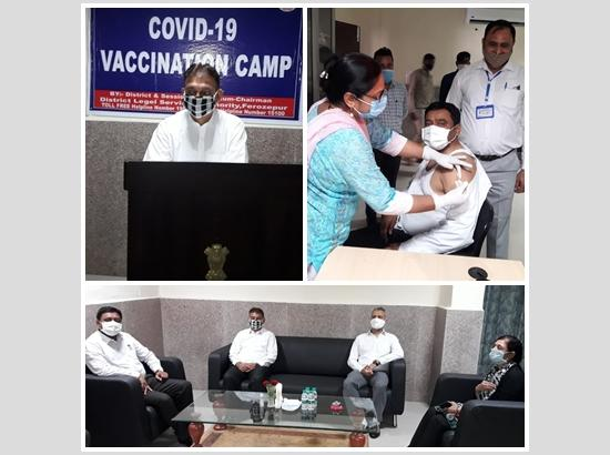 300 vaccinated at COVID-19 Vaccination Camp held at Court Complex Camp