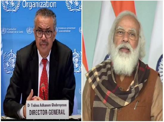WHO chief lauds India, PM Modi for support to global COVID-19 response