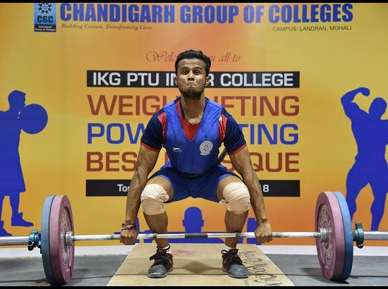 Three Day State Level Inter College Weightlifting tournament begins at CGC Landran