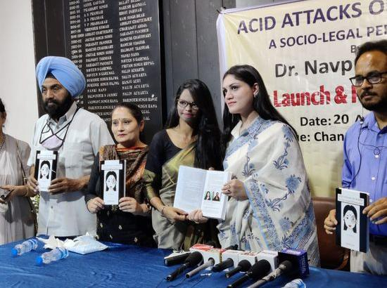 Dr. Navpreet Kaur releases Book - Acid Attacks on Women