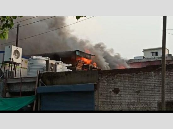 Fire breaks out in Sector 7 of Chandigarh
