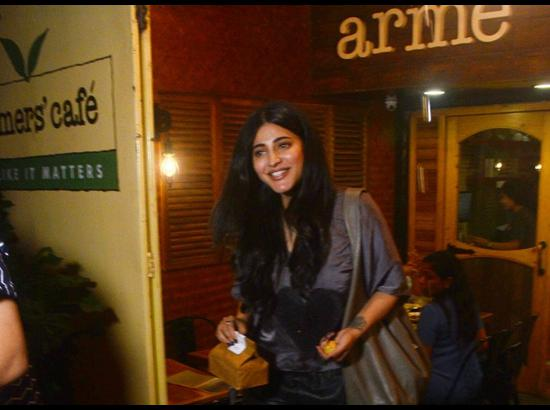 Shruti Haasan seen at a café