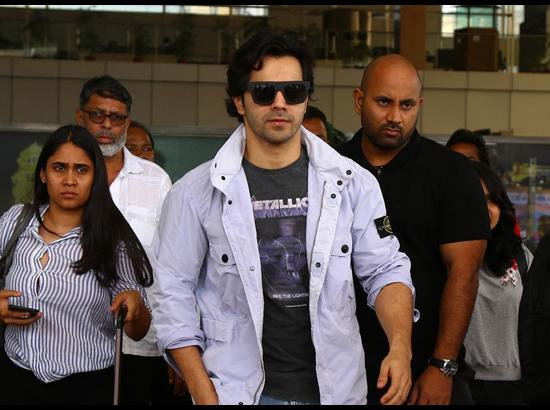 Varun Dhawan arrives in Jaipur