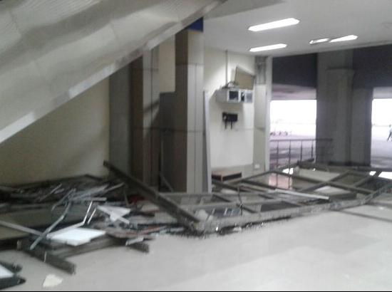 Strong winds cause big damage to Amritsar International Airport