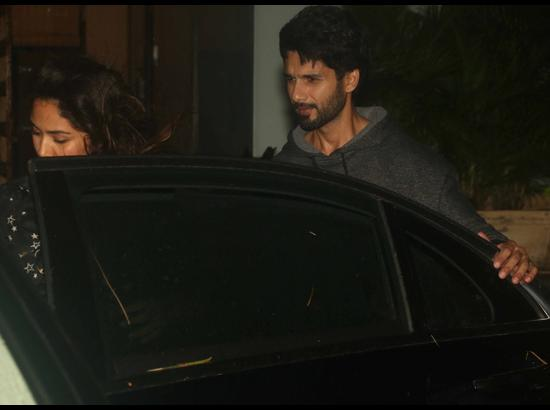 Shahid Kapoor and Mira Rajput seen at Mumbai's Juhu