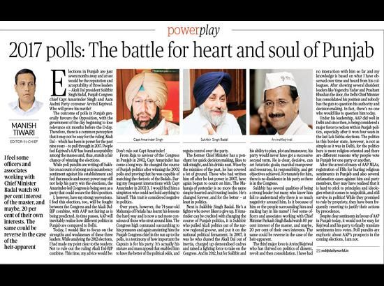 2017 polls: The battle for heart and soul of Punjab... by Manish Tiwari
