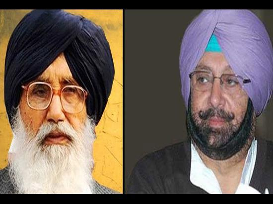 In a first, Amarinder showers praise on Badal