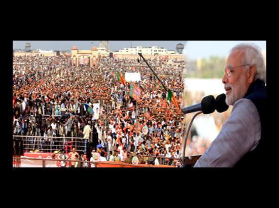 Modi's Lucknow Rally: Higher The Stakes, Larger The Crowd