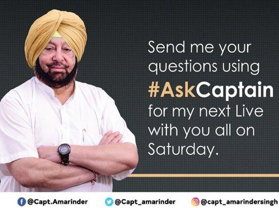 Capt Amarinder to go Live on Saturday answering questions
