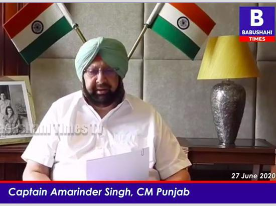 Amarinder announces free food packets for poor families in Home Isolation