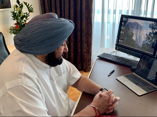 Captain Reviews Amritsar Situation From Tel Aviv Through Video Conference
