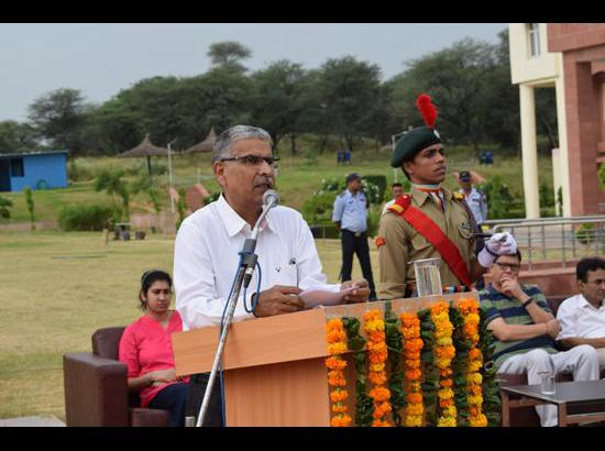 Central University Haryana celebrates 71st Independence Day